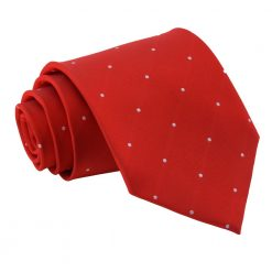 Dark Red Pin Dot Classic Tie