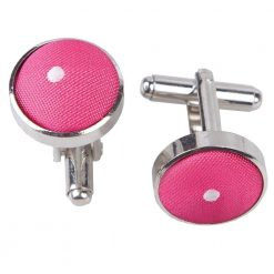 Hot Pink Pin Dot Cufflinks