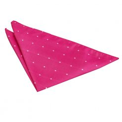 Hot Pink Pin Dot Handkerchief / Pocket Square