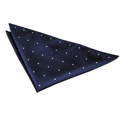 Navy Blue Pin Dot Handkerchief / Pocket Square