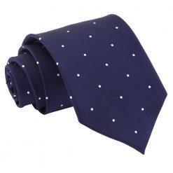 Navy Blue Pin Dot Classic Tie