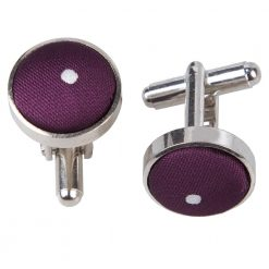 Purple Pin Dot Cufflinks