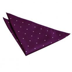 Purple Pin Dot Handkerchief / Pocket Square