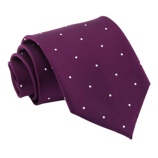 Purple Pin Dot Classic Tie