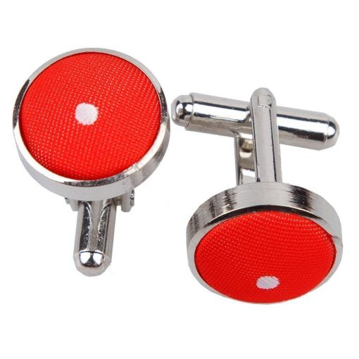 Red Pin Dot Cufflinks