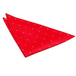 Red Pin Dot Pocket Square