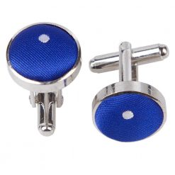 Royal Blue Pin Dot Cufflinks