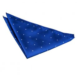 Royal Blue Pin Dot Handkerchief / Pocket Square