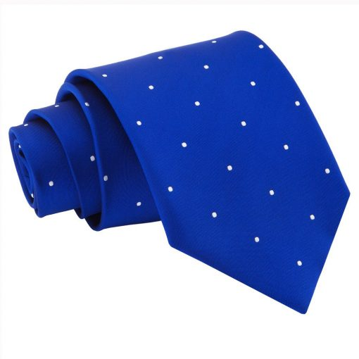 Royal Blue Pin Dot Classic Tie