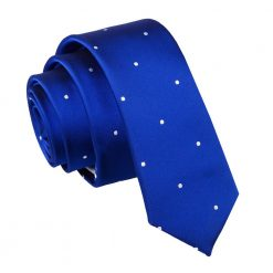 Royal Blue Pin Dot Skinny Tie