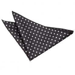 Black Polka Dot Handkerchief / Pocket Square