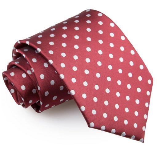 Burgundy Polka Dot Classic Tie