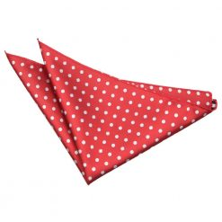 Dark Red Polka Dot Handkerchief / Pocket Square