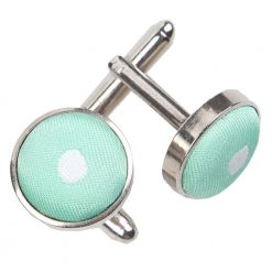 Mint Green Polka Dot Cufflinks