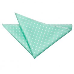 Mint Green Polka Dot Handkerchief / Pocket Square