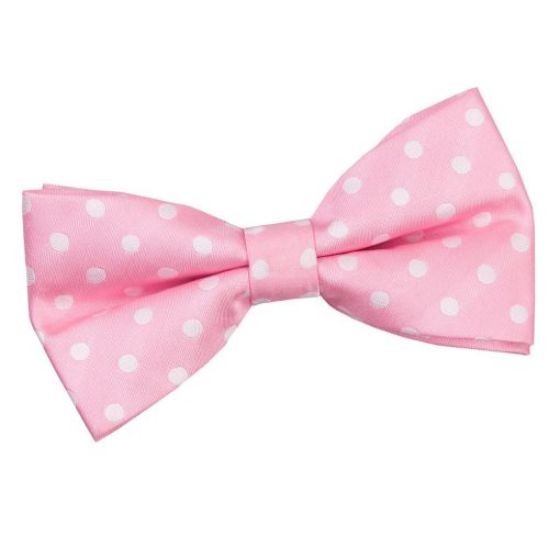 Pink Polka Dot Pre-Tied Bow Tie