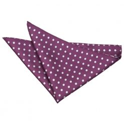 Purple Polka Dot Handkerchief / Pocket Square