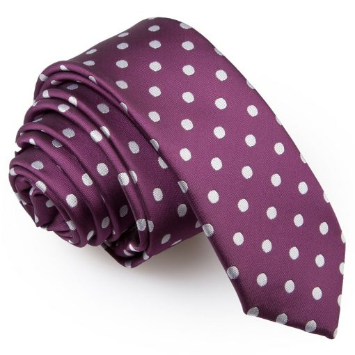 Purple Polka Dot Skinny Tie