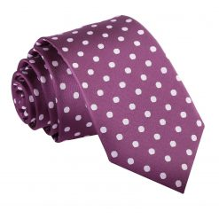 Purple Polka Dot Slim Tie