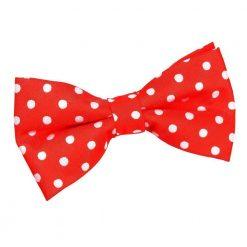 Red Polka Dot Pre-Tied Bow Tie