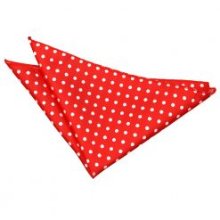 Red Polka Dot Handkerchief / Pocket Square