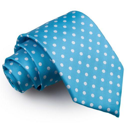 Robin's Egg Blue Polka Dot Classic Tie