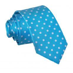 Robin's Egg Blue Polka Dot Slim Tie