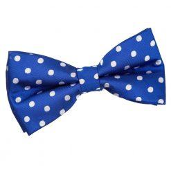 Royal Blue Polka Dot Pre-Tied Bow Tie