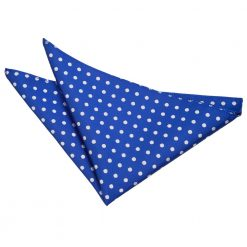 Royal Blue Polka Dot Handkerchief / Pocket Square