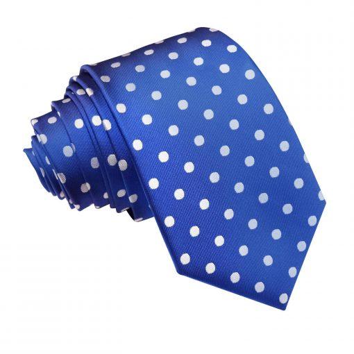 Royal Blue Polka Dot Slim Tie