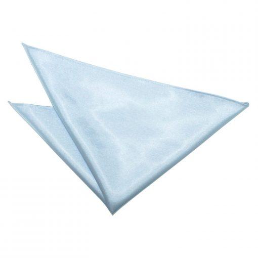 Baby Blue Plain Satin Handkerchief / Pocket Square