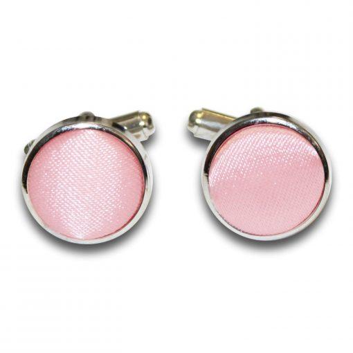 Baby Pink Plain Satin Cufflinks