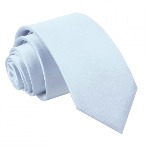 Baby Blue Plain Satin Slim Tie