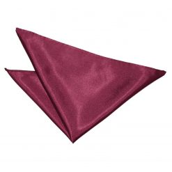 Burgundy Plain Satin Handkerchief / Pocket Square
