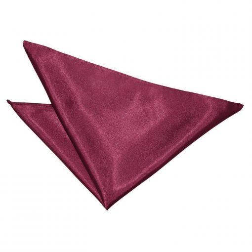 Burgundy Plain Satin Handkerchief / Pocket Square