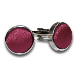 Burgundy Plain Satin Cufflinks