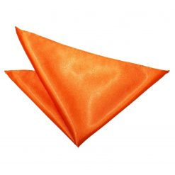 Burnt Orange Plain Satin Pocket Square