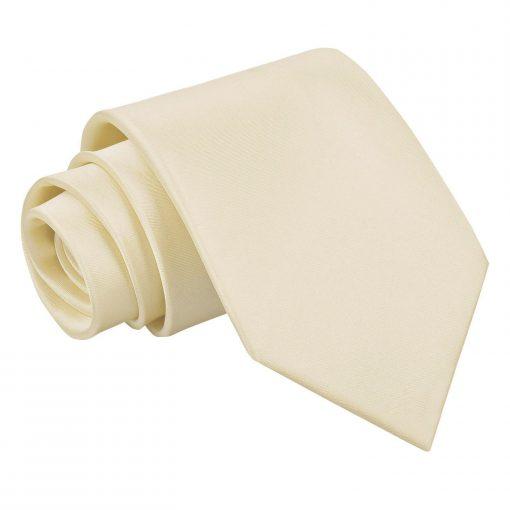 Champagne Plain Satin Classic Tie