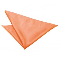 Coral Plain Satin Handkerchief / Pocket Square