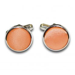 Coral Plain Satin Cufflinks