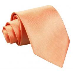Coral Plain Satin Classic Tie