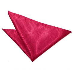 Crimson Red Plain Satin Handkerchief / Pocket Square