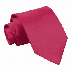 Crimson Red Plain Satin Extra Long Tie