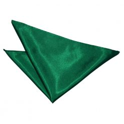 Emerald Green Plain Satin Handkerchief / Pocket Square