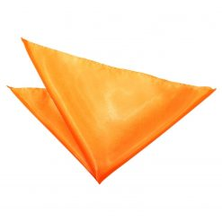 Fluorescent Orange Plain Satin Handkerchief / Pocket Square