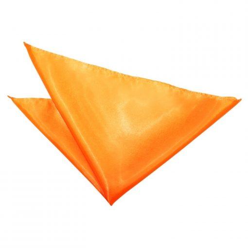 Fluorescent Orange Plain Satin Handkerchief / Pocket Square