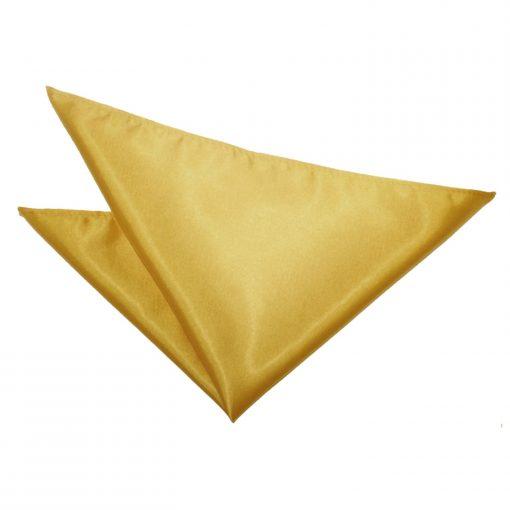 Gold Plain Satin Pocket Square