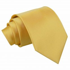 Gold Plain Satin Classic Tie