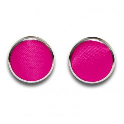 Hot Pink Plain Satin Cufflinks
