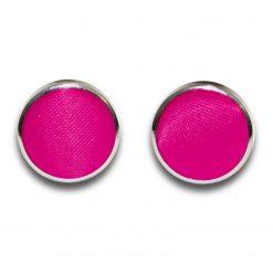 Hot Pink Plain Satin Cufflinks